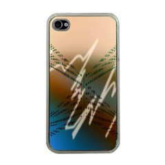 Pop Art Edit Artistic Wallpaper Apple iPhone 4 Case (Clear)