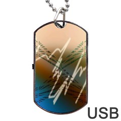 Pop Art Edit Artistic Wallpaper Dog Tag USB Flash (One Side)