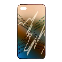 Pop Art Edit Artistic Wallpaper Apple iPhone 4/4s Seamless Case (Black)
