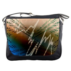 Pop Art Edit Artistic Wallpaper Messenger Bags