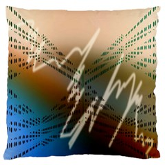 Pop Art Edit Artistic Wallpaper Large Cushion Case (Two Sides)