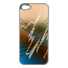 Pop Art Edit Artistic Wallpaper Apple iPhone 5 Case (Silver)