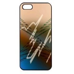 Pop Art Edit Artistic Wallpaper Apple iPhone 5 Seamless Case (Black)