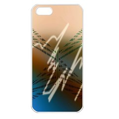 Pop Art Edit Artistic Wallpaper Apple iPhone 5 Seamless Case (White)