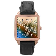 Pop Art Edit Artistic Wallpaper Rose Gold Leather Watch