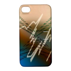 Pop Art Edit Artistic Wallpaper Apple iPhone 4/4S Hardshell Case with Stand
