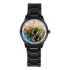 Pop Art Edit Artistic Wallpaper Stainless Steel Round Watch