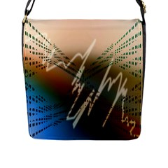 Pop Art Edit Artistic Wallpaper Flap Messenger Bag (L)