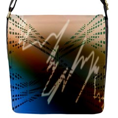 Pop Art Edit Artistic Wallpaper Flap Messenger Bag (S)