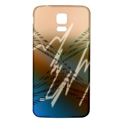 Pop Art Edit Artistic Wallpaper Samsung Galaxy S5 Back Case (White)