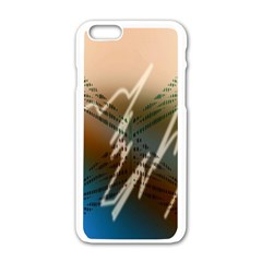 Pop Art Edit Artistic Wallpaper Apple iPhone 6/6S White Enamel Case