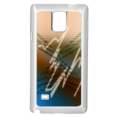 Pop Art Edit Artistic Wallpaper Samsung Galaxy Note 4 Case (White)