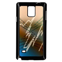 Pop Art Edit Artistic Wallpaper Samsung Galaxy Note 4 Case (Black)