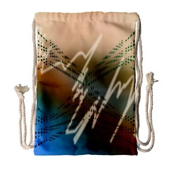Pop Art Edit Artistic Wallpaper Drawstring Bag (Large)