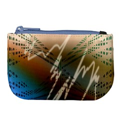 Pop Art Edit Artistic Wallpaper Large Coin Purse