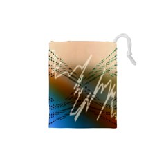 Pop Art Edit Artistic Wallpaper Drawstring Pouches (XS)