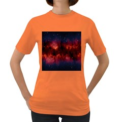Astronomy Space Galaxy Fog Women s Dark T Shirt by Nexatart