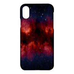 Astronomy Space Galaxy Fog Apple Iphone X Hardshell Case by Nexatart