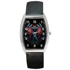 Abstract Background Texture Pattern Barrel Style Metal Watch