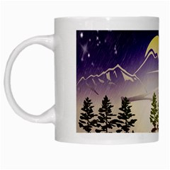 Background Christmas Snow Figure White Mugs by Nexatart