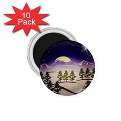 Background Christmas Snow Figure 1 75  Magnets (10 Pack)  by Nexatart
