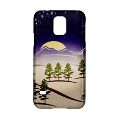Background Christmas Snow Figure Samsung Galaxy S5 Hardshell Case