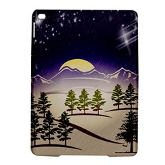 Background Christmas Snow Figure Ipad Air 2 Hardshell Cases