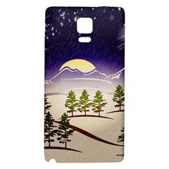 Background Christmas Snow Figure Galaxy Note 4 Back Case by Nexatart