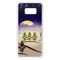 Background Christmas Snow Figure Samsung Galaxy S8 Plus White Seamless Case by Nexatart
