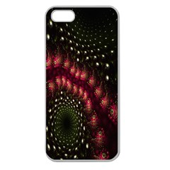 Background Texture Pattern Apple Seamless Iphone 5 Case (clear) by Nexatart