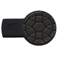 Emboss Luxury Artwork Depth Usb Flash Drive Round (4 Gb)