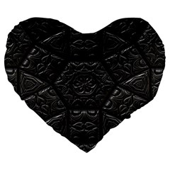 Emboss Luxury Artwork Depth Large 19  Premium Heart Shape Cushions