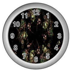Fractal Art Digital Art Wall Clocks (silver)  by Nexatart