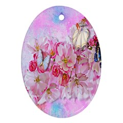 Nice Nature Flowers Plant Ornament Ornament (oval) by Nexatart