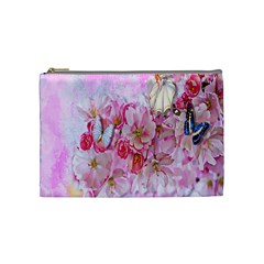 Nice Nature Flowers Plant Ornament Cosmetic Bag (medium)