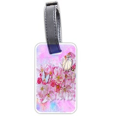 Nice Nature Flowers Plant Ornament Luggage Tags (one Side)