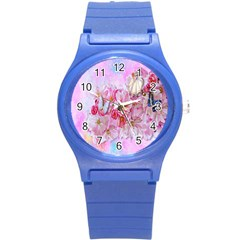 Nice Nature Flowers Plant Ornament Round Plastic Sport Watch (s) by Nexatart