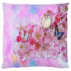 Nice Nature Flowers Plant Ornament Standard Flano Cushion Case (two Sides)