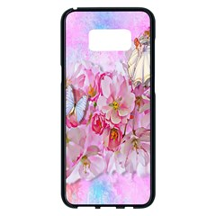Nice Nature Flowers Plant Ornament Samsung Galaxy S8 Plus Black Seamless Case