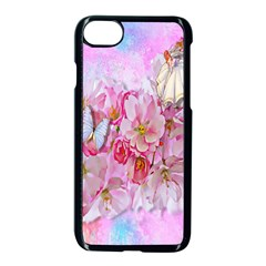 Nice Nature Flowers Plant Ornament Apple Iphone 8 Seamless Case (black) by Nexatart
