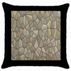 Tile Steinplatte Texture Throw Pillow Case (black) by Nexatart