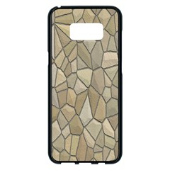 Tile Steinplatte Texture Samsung Galaxy S8 Plus Black Seamless Case by Nexatart