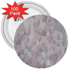 Pattern Mosaic Form Geometric 3  Buttons (100 Pack)