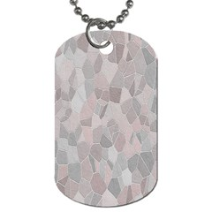 Pattern Mosaic Form Geometric Dog Tag (two Sides) by Nexatart