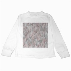Pattern Mosaic Form Geometric Kids Long Sleeve T Shirts
