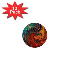 Creativity Abstract Art 1  Mini Buttons (10 Pack)  by Nexatart