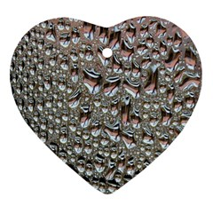 Droplets Pane Drops Of Water Ornament (heart) by Nexatart