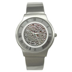 Droplets Pane Drops Of Water Stainless Steel Watch