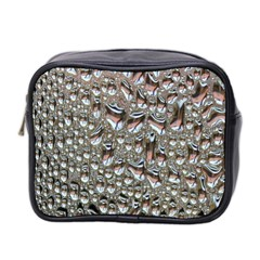 Droplets Pane Drops Of Water Mini Toiletries Bag 2 Side by Nexatart