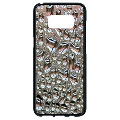 Droplets Pane Drops Of Water Samsung Galaxy S8 Black Seamless Case by Nexatart